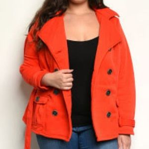 Jackets & Blazers - Red Hooded Jacket